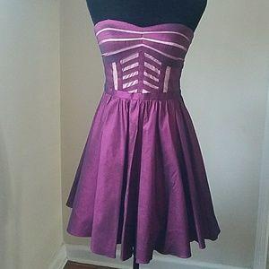 Aqua cocktail dress
